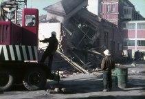 Demolition at Dunedin Hospital in the 1960s. Hardwicke Knight photo.