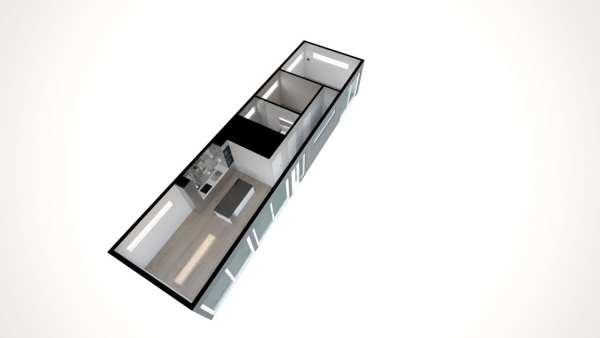 Built Prefab Modular Homes Dakota Floorplan Rendering