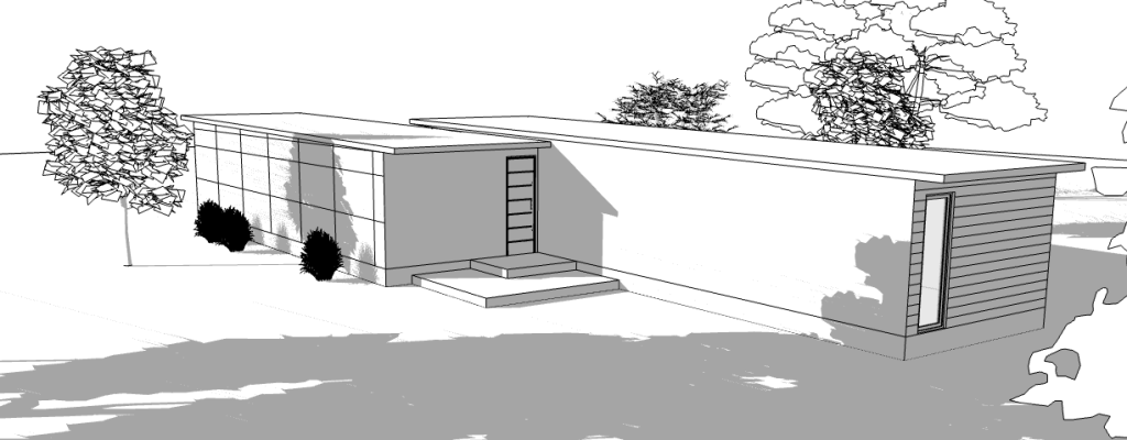 Built Prefab Modular Home Rendering