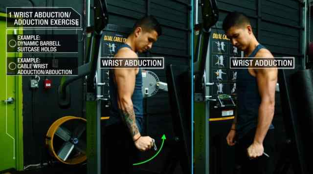 How to woHow to get bigger forearms cable wrist adduction and abduction 2rk out forearms dynamic barbell suitcase holds