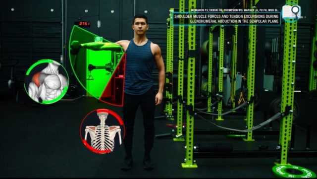 Dumbbell lateral raises angle