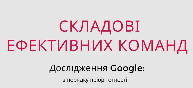 Що робить команду ефективною у Google?
