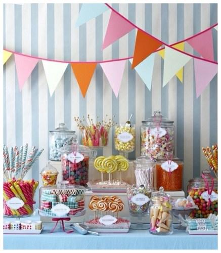utensilios para mesa de dulces