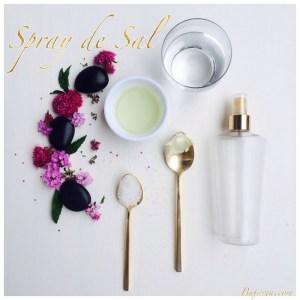 Hazlo Tú misma: Cómo hacer un spray de sal para el cabello.