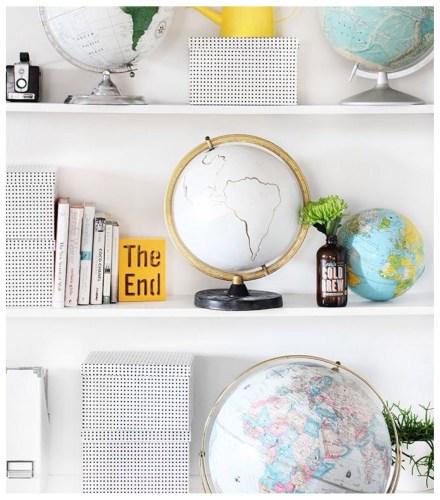 cómo decorar estanterías