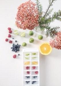 Para celebrar: Cubitos de hielo decorativos