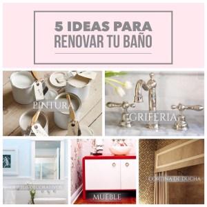 5 ideas para renovar tu baño