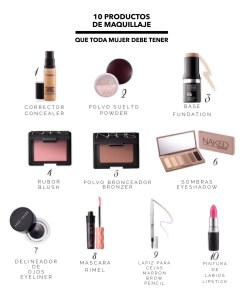 10 Productos de maquillaje que toda mujer debe tener.