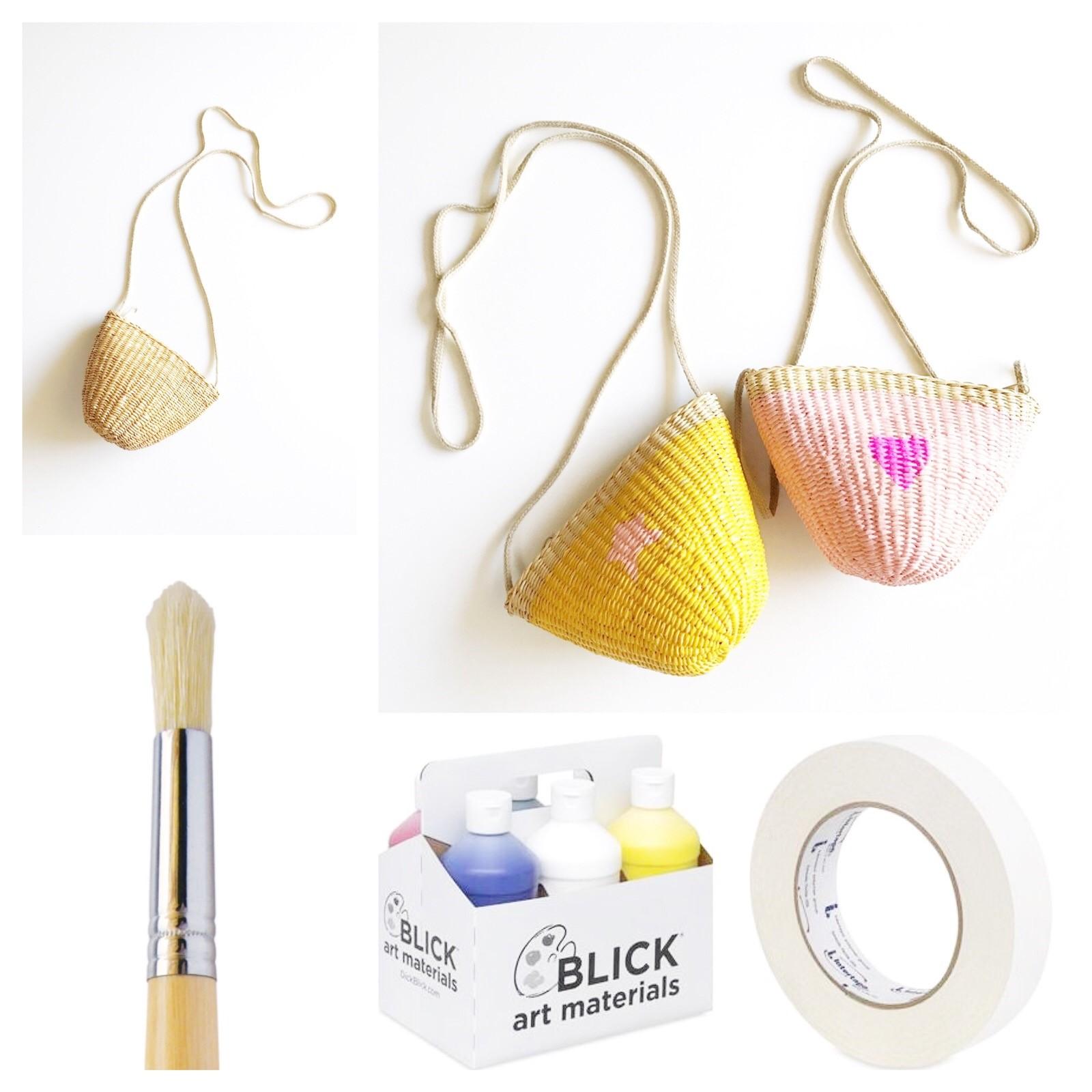 Cómo pintar bolsos de paja para niñas