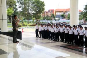 Arahan oleh Kasubbag Rumah Tangga BUK Universitas Negeri Malang