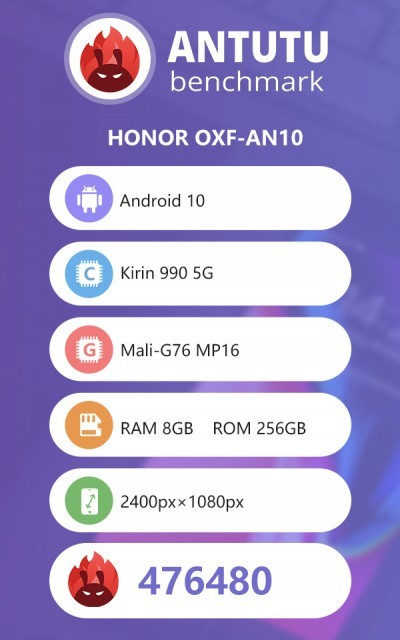 Honor V30 Pro appears on AnTuTu, gets compared with Mate 30 Pro