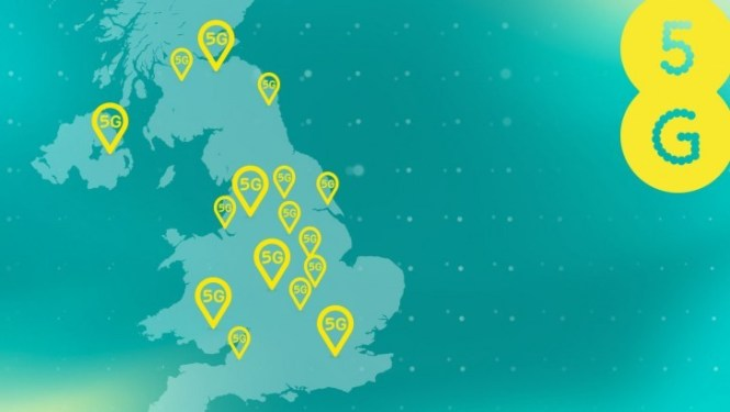 EE expands its 5G network with new cities, wide and coverage in current cities