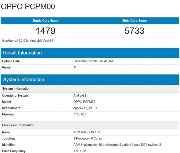 Oppo A91 passes through Geekbench, renders surface
