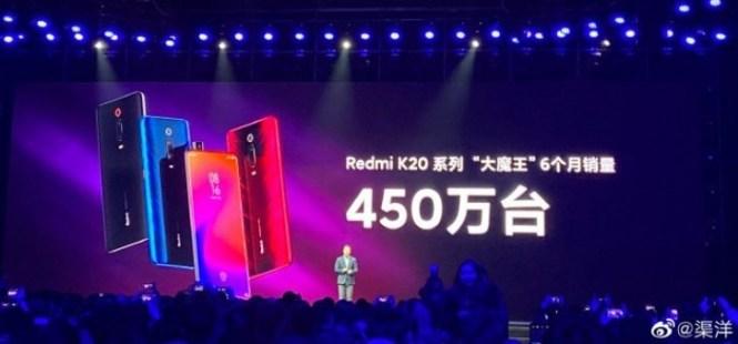 Redmi K20 series passes 4.5 million shipments
