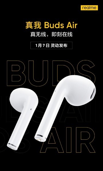 Realme Buds Air coming to China on January 7