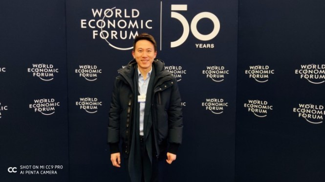 Shou Zi Chew at the 2020 World Economic Forum