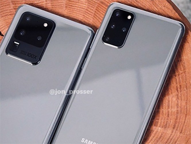 First live image of Samsung Galaxy S20 Ultra reveals camera setup, Galaxy S20+ tags along
