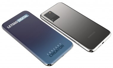 3D renders based on Samsung's patent for a quad-curved screen