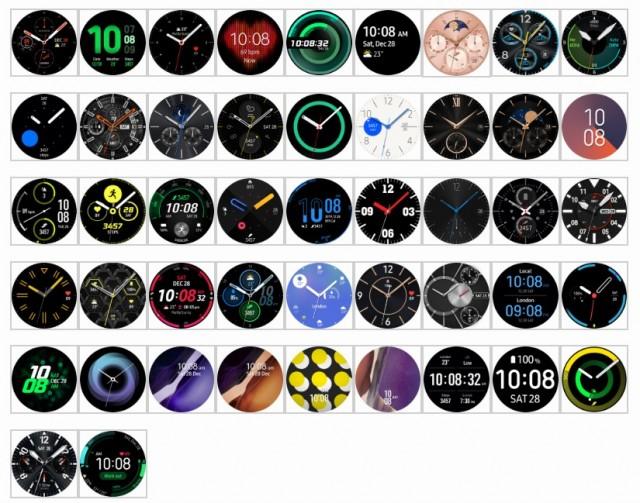 The default watch faces