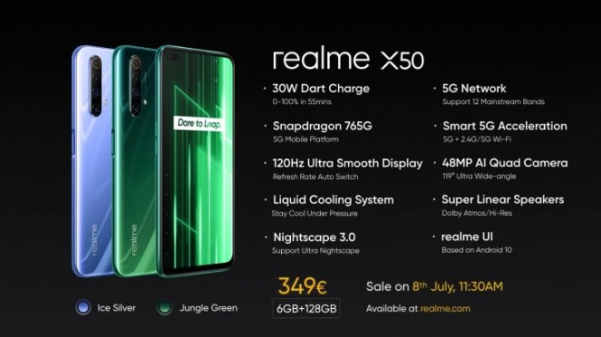 Realme X50 5G now available in Europe, is actually the X50m model