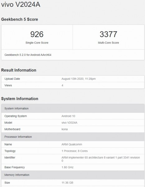 iQOO 5 appears on Geekbench with 12GB RAM as Pro version poses for the camera
