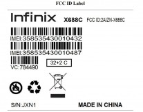Infinix Hot 10 Play FCC document parts
