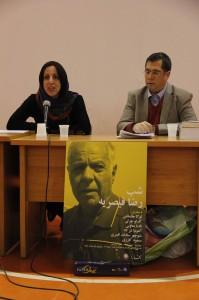 دکتر آنتونیا شرکاء و علی دهباشی ـ عکس از ژاله ستار