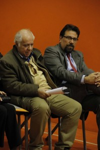 پروفسور کارلو چرتی و رضا قیصریه ـ عکس از ژاله ستار
