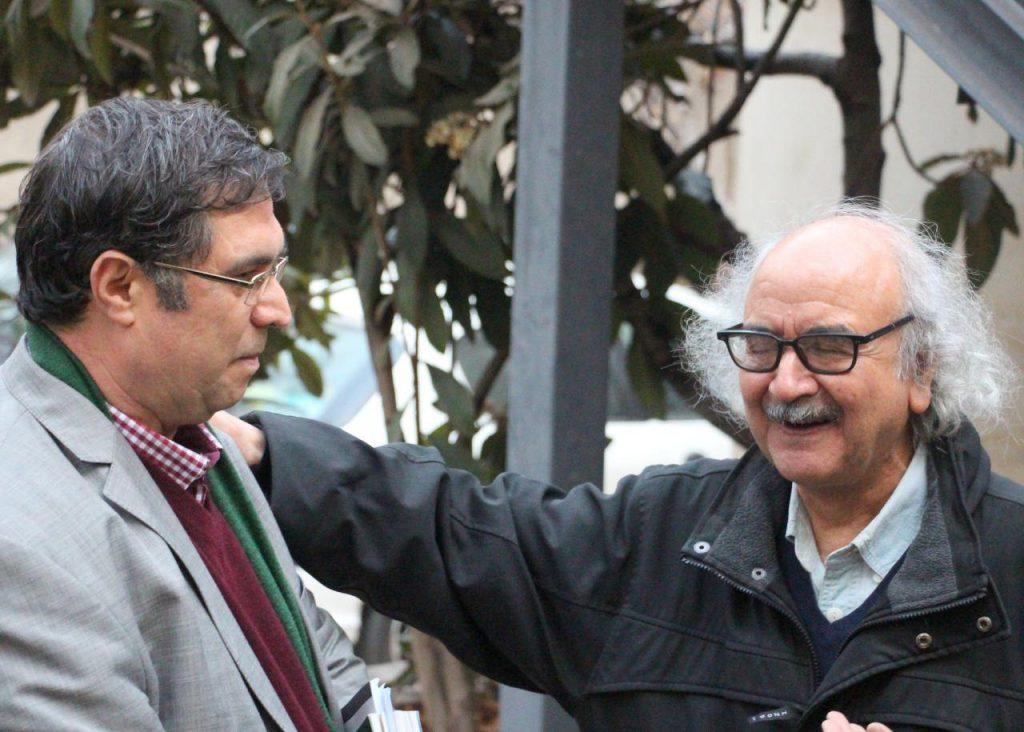 با دکتر شفعیی کدکنی هنگام ورود ایشان به کانون زبان فارسی