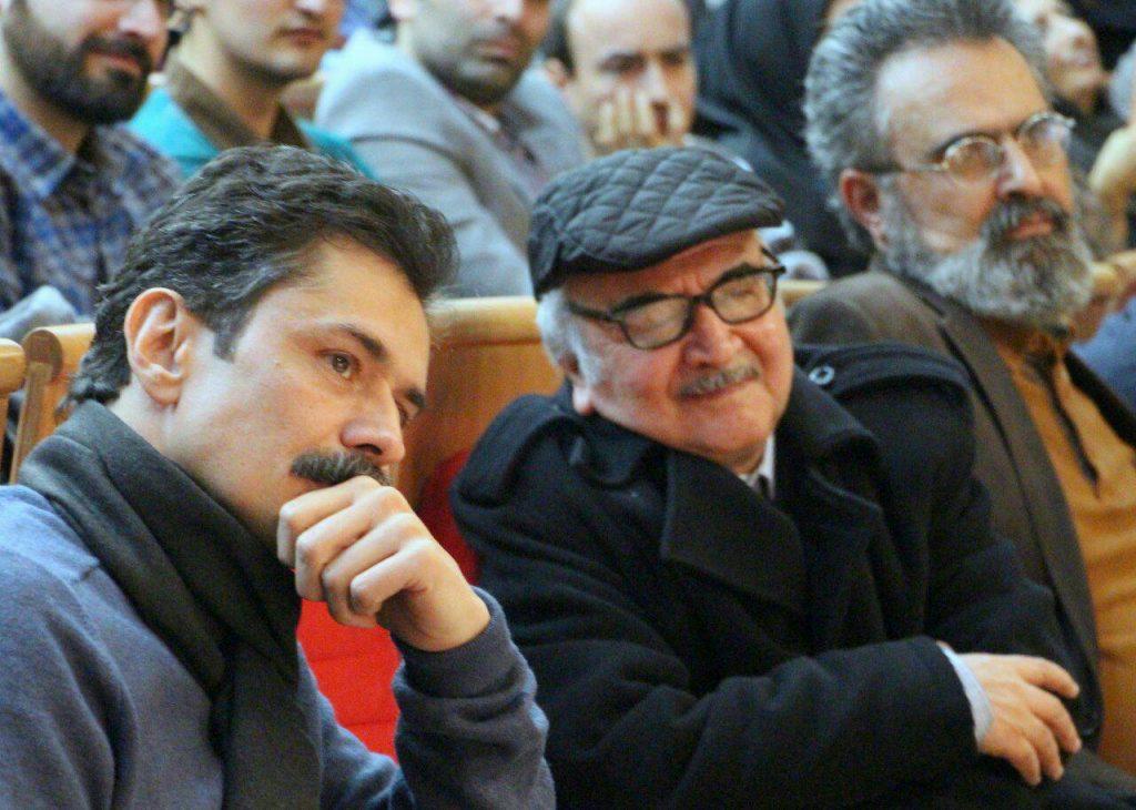 زردشت اخوان ثالث در کنار استاد محمدرضا شفیعی کدکنی و دکتر بهرام پروین گنابادی