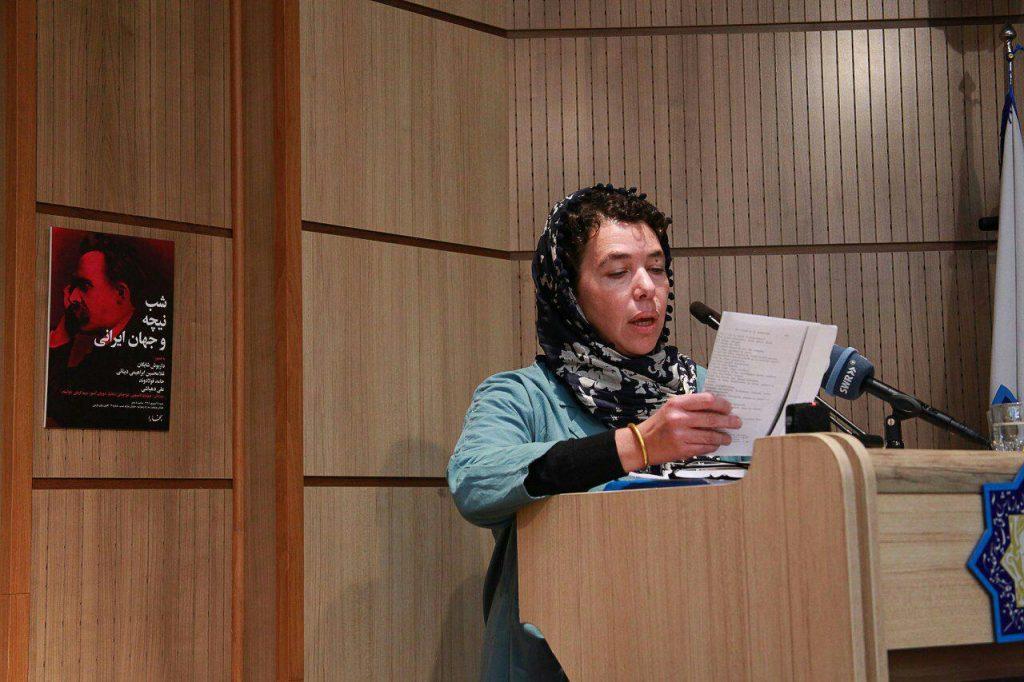 دکتر مریم کریشی استاد فلسفه نیچه و اسپینوزا در دانشگاه سربن