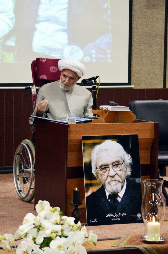 دکتر اکبر حمیدزاده گیوی به ویژگی آثار دکتر شایگان اشاره کرد
