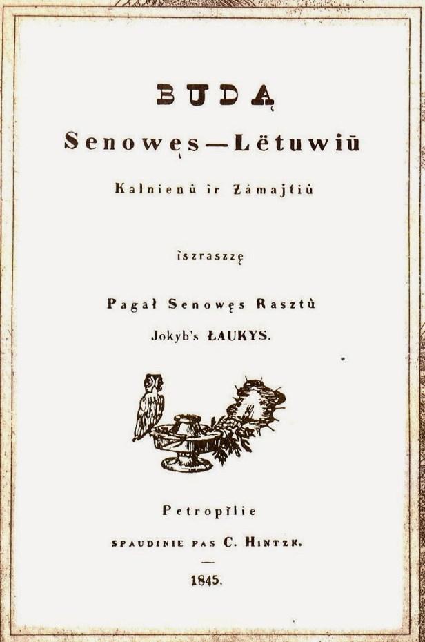 Simono_Daukanto_Būdas_senovės_lietuvių,_kalnėnų_ir_žemaičių_antraštinis_puslapis,_1845_m..LG2112