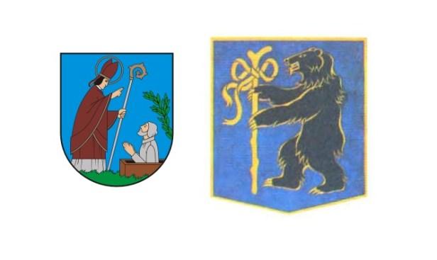 Telšių Herbas bažnytinis ir meška