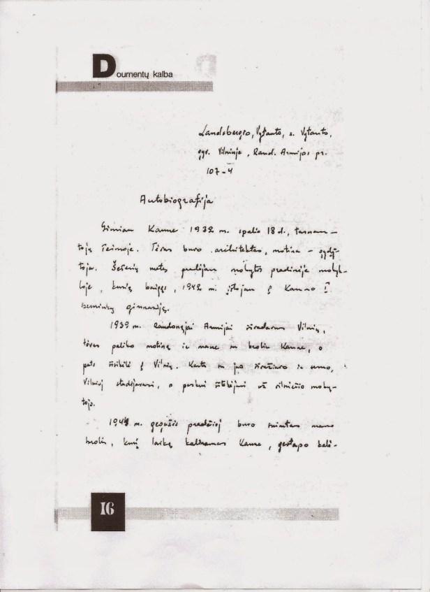 V.Landsbergio autobiografija