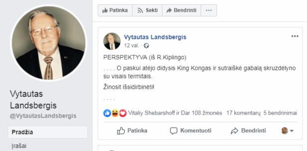 Landsbergis King kongas