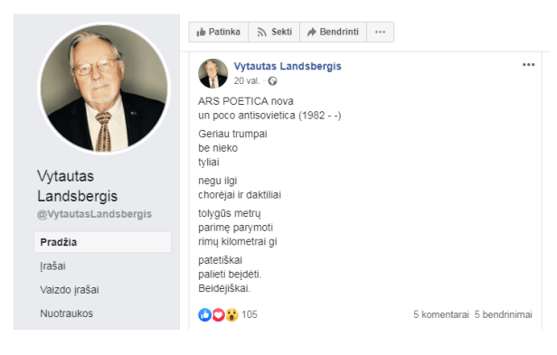 Vytautas Landsbergis lotyniškai