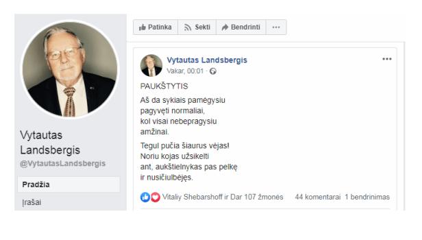 Vytautas Landsbergis paukščiai