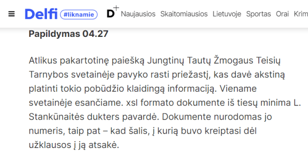 Delfio papildymas 04.27