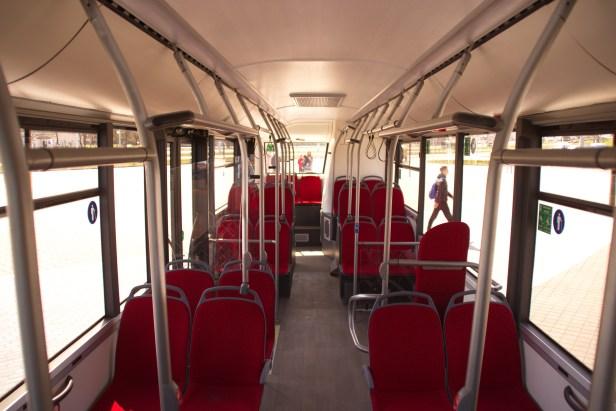 maz autobuso salonas elektrinis maz