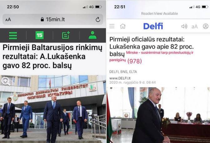 Lukašenka laimėjo