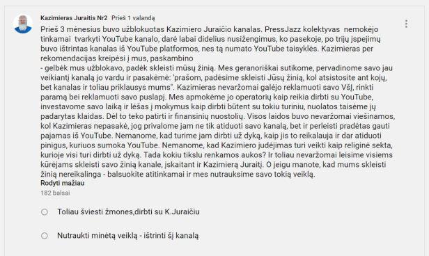Kazimieras Juraitis Nr.2 youtube kanalas