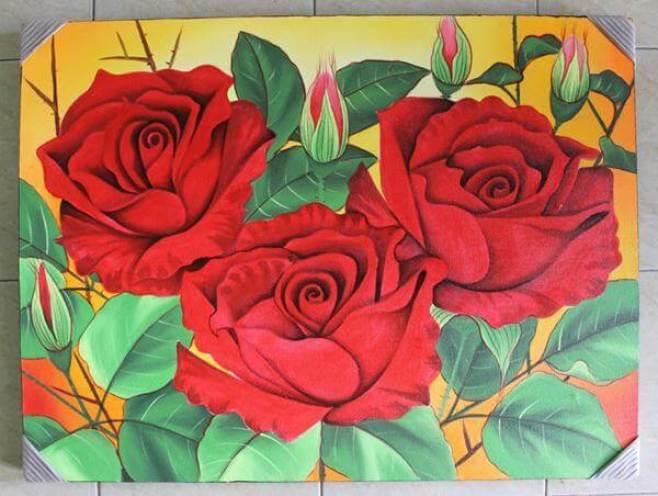 gambar sketsa bunga mawar cantik
