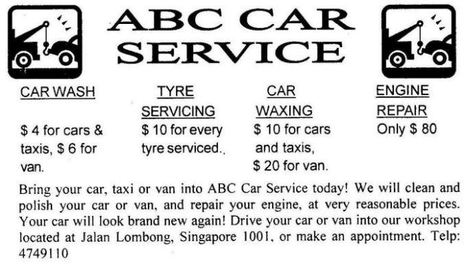 Contoh Advertisement Service bagus