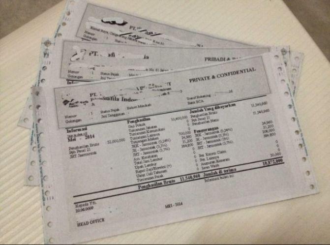 7 Contoh Slip Gaji Karyawan Guru Perusahaan Pns File