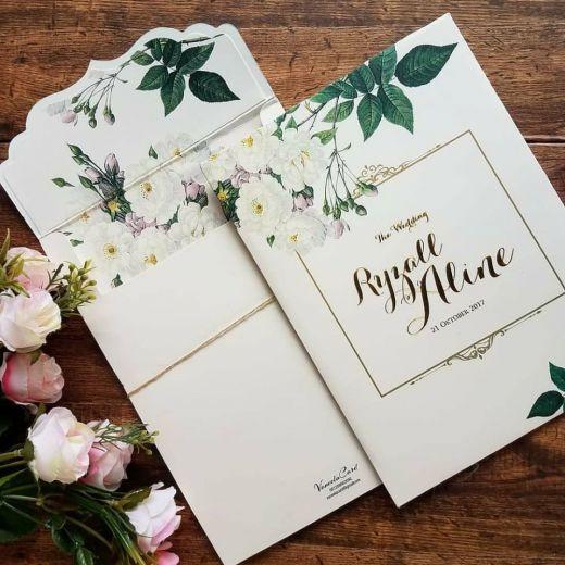 Desain undangan pernikahan sederhana tapi elegan