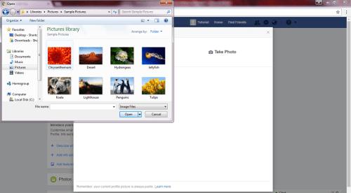 cara upload photo porfil ke akun facebook baru kamu