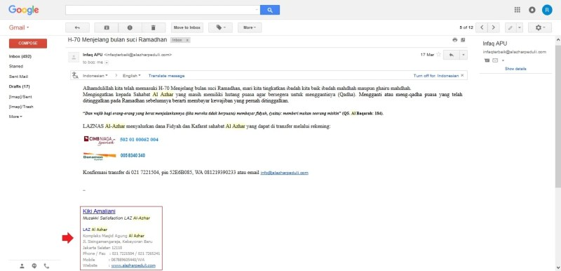 Contoh Email Gmail - Contoh Bee