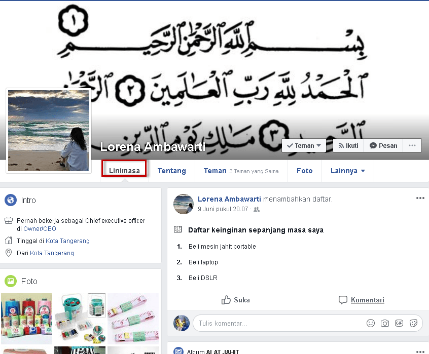 Cara agar timeline/wall akun FB tidak bisa ditulis orang lain