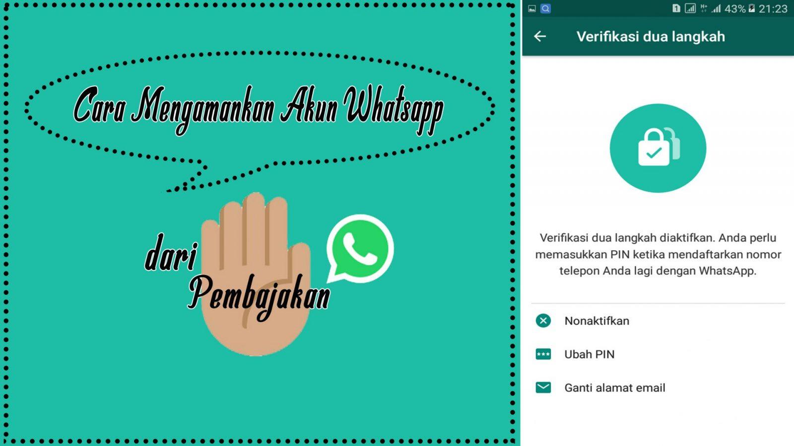 Cara [paling ampuh] amankan Akun Whatsapp dari Pembajakan